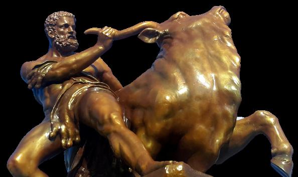 Herkules walczący zbykiem